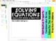 Solving Equations Flip Book