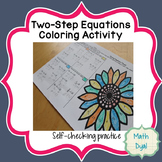 Solving Two-Step Equations Coloring Activity