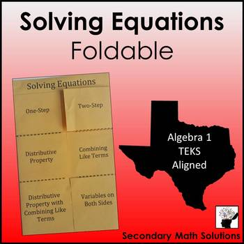 Solving two step equation foldable pdf