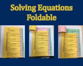 Solving Equations Foldbale