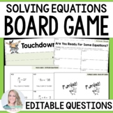 Solving Equations Board Game