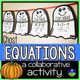 Halloween Solving Equations Math Pennants