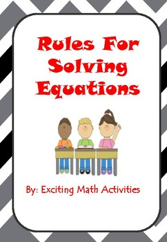 "Solving Equations ""Golden Rules"" Cootie Catcher (Fortune Teller)"