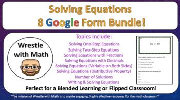 Solving Equations Google Form Bundle – Perfect for Google Classroom!