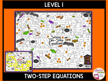 Solving Equations Halloween Algebra Mazes 3 Differentiated Levels