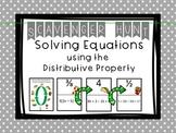 Solving Equations - Distrubitive Property - Scavenger Hunt and Exit Tickets