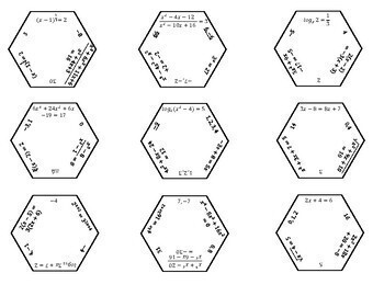 Solving Equations Hexagon Puzzle Activity! (GOOGLE SLIDES VERSION INCLUDED!)