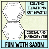 Solving Equations Hexagon Puzzle Activity! (GOOGLE SLIDES