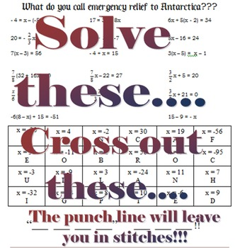 Solving Equations Humor