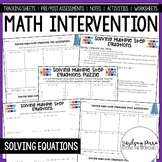 Solving Equations Math Intervention Program