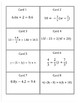 Solving Equations Involving Decimals and Fractions Task Cards