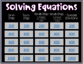 Solving Equations Jeopardy Review