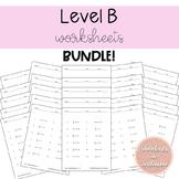 Solving Equations Worksheets Level B Bundle