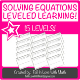 Solving Equations Leveled Learning!