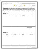 Solving Equations: Leveled Worksheet