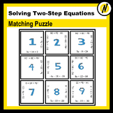 Solving Equations Matching Puzzle