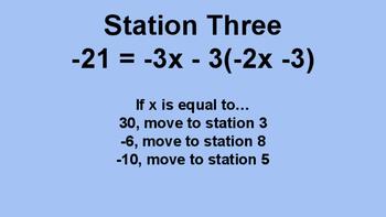 Solving Equations Maze