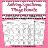 Solving Equations Maze Bundle