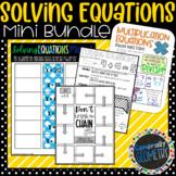 Solving Equations Mini Bundle; 6th Grade Math, One-Step Equations