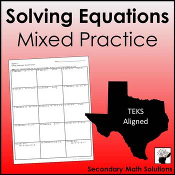 Solving Equations Mixed Practice