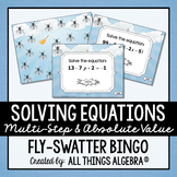 Solving Equations (Multi-Step and Absolute Value) Bingo Game