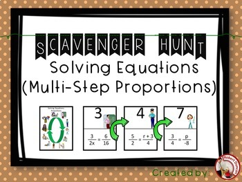 Solving Equations (Multi-step Proportions) Scavenger Hunt