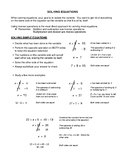Solving Equations - Notes