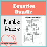 Solving Equations Number Puzzle Bundle