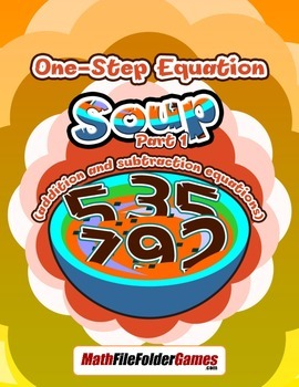 Solving Equations - One-Step Equation Soup