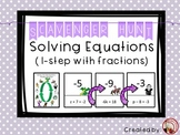 Solving One Step Equations Scavenger Hunt & Exit Tickets (including fractions)
