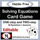 Solving Equations: EDITABLE  One and Two Step Eqn 48 Ques - STUDENTS SELF CHECK