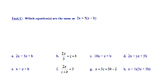 Solving Equations PARCC - like Assessment and Review