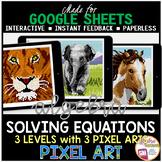Digital Pixel Art Math Solving Equations Algebra 1 Distance Learning