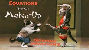 Solving Equations Partner Worksheets: Match-Up
