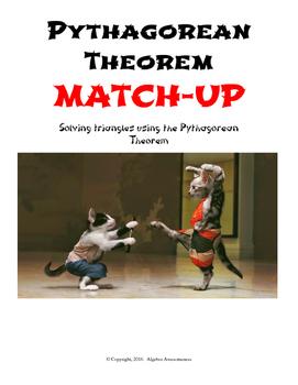 Pythagorean Theorem Partner Worksheets: Match-Up