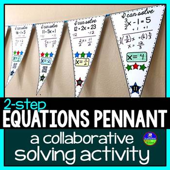 Solving Equations Pennant {2-step equations}