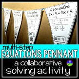 Multi-step Equations Math Pennant Activity
