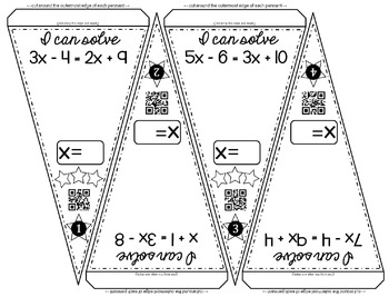 Multi-step Equations Math Pennant Activity