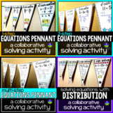 Solving Equations Math Pennants Bundle