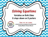 Solving Equations Poster - Middle School Math