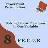 Solving Equations PowerPoint 8.EE.C.7.B