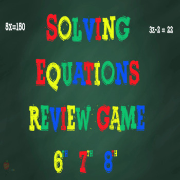 Solving Equations PowerPoint Review Game
