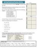 Solving Equations Practice Activity