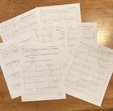 Solving Equations Practice Bundle
