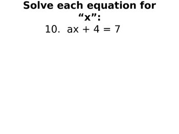Solving Equations Practice - Smartboard Activity