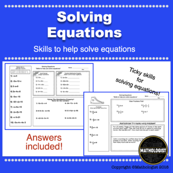 Solving Equations, Practice Tricky Problems