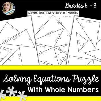 Solving equations puzzle teaching resources teachers pay teachers solving equations puzzle solving equations puzzle ccuart Choice Image