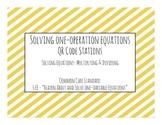 Solving One-Step Equations QR Code Task Cards (Multiplying & Dividing)