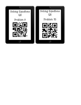 Solving Equations QR Worksheet
