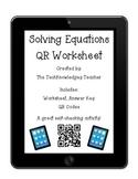 Solving Equations QR Worksheet